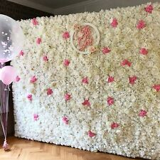 white flower wall *HIRE ONLY* wedding / event backdrop photo backdrop rent decor