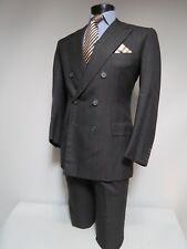 Davies & Sons Savile Row London charcoal stripe bespoke suit 38 R
