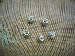 Schmuck Herstellung 5 Stück 925-er Silber Zwischen Teile für Ketten 6 x 4,5 cm