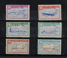 Local- Guernsey- Sark (4 with Airplanes) & Alderney (2) OP Europa 1968  -sr