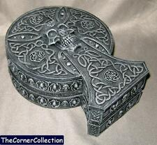 Pretty Gray Celtic King Crypt Trinket Box