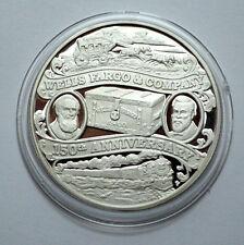 Rare WELLS FARGO 150th ANN. 1852-2002 1 Troy oz.999 Silver PROOF Round Coin;;;