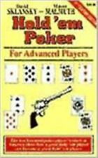 Hold 'em Poker For Advanced Player PAPERBACK BOOK FREE SHIPPING texas Play! win!