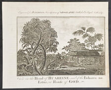 1787 Bankes Antique Print Cooks 3rd Voyage 1777 - Holy Shrine on Isle of Huahine