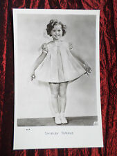 SHIRLEY TEMPLE - FILM STAR  - BLACK AND WHITE  - POSTCARD - VG