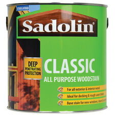 5lt Sadolin Classic Wood Protection Woodstain Mahogany Ebony Teak Redwood Walnut