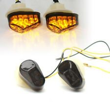 Smoke Flush Mount LED Turn Signals For Yamaha YZF R6S 2006-2010/FAZER FZ1S FZ6S