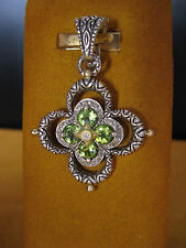 BARBARA BIXBY FLOWER ENHANCER PENDANT PERIDOT WHITE TOPAZ GIFT Christmas