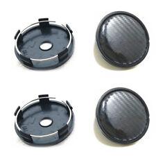 4Pcs Carbon Fiber Look Black Car Auto Wheel Hub Center Caps Cover 60MM Plastic