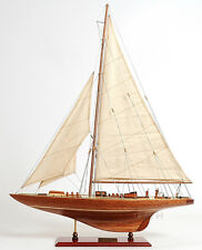 "America's Cup 1933 Endeavour J Class Boat 60"" Built Wood Model Yacht Assembled"