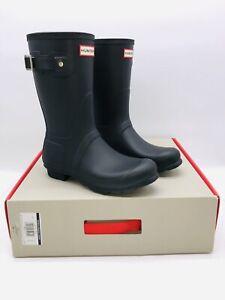 HUNTER Women's Original Short Rain Boot Black US 8M