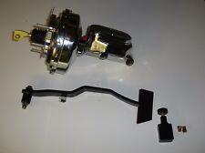 "1967-1970 mustang mercury cougar 9"" power brake booster master cylinder chrome"