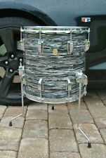 "1966 Ludwig CLASSIC 14"" BLACK OYSTER PEARL FLOOR TOM for YOUR DRUM SET! #Z699"