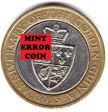 2013 2 EUR * error mula * aniversario de Golden GUINEA dos libras moneda 27/32 2