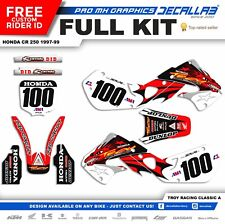 HONDA CR 250 1998 1999 Decallab Graphics Decals Stickers