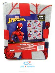 "Marvel Spider-Man Plush Throw Blanket, 40"" x 50"" - New"