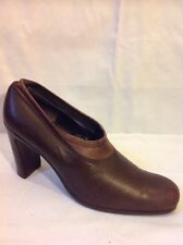 DonnaKaran Brown Ankle Leather Boots Size 5.5