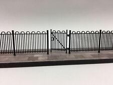 LASER CUT HAIRPIN SCHOOL / PARK RAILINGS N GAUGE 1:148 MODEL RAILWAY - LX102-N