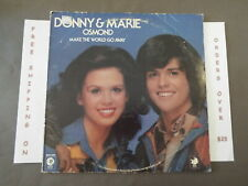 DONNY & MARIE OSMOND MAKE THE WORLD GO AWAY LP