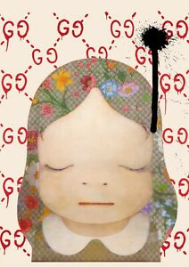 "45x32cm Death NYC Ltd Ed LARGE Signed Graffiti Pop Art Print ""Guc cute 1"""
