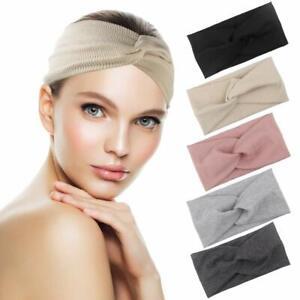 5Stücke Haarband Stirnband Damen breit Stretch Bandana Kopfschmuck Sport Knoten