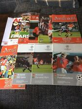 Arsenal Home Programmes (x9) 1998 to 2012