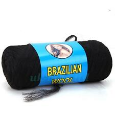 Brazilian Wool For African Hair Box Braiding Sengalese Twisting Black Long T07