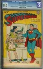 SUPERMAN #36 CGC 8.0 OW/WH PAGES // MR. MXYZTPLK APPEARANCE 1945