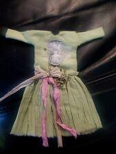 Blythe Cutom Made Dress , designer made, beautiful details sage green