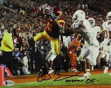 Reggie Bush Signed 8x10 Diving into Endzone Photo W/ Heisman 05 - Beckett Auth