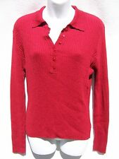 Kathie Lee Women's Long Sleeve Red Sweater Size M?