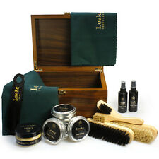 Loake Luxury Valet Box Shoe Boot Care Kit Cleaner Wax Brush Protector Polish