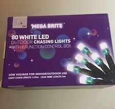 10 X Christmas Lights 80 White LED Outdoor Chasing Lights Job Lot
