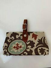 Add Libb Designs Spur Strap Biloba Handbag Brown Printed
