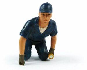 Tow Truck Driver Scott Figure Blue American Diorama Figurine 23793 1/18 scale