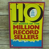 110 Hit Songs Of Million Record Sellers Piano Vocal Guitar Vol 1 Chappell Music