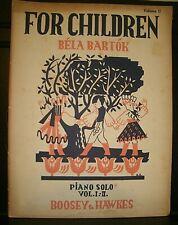 Bela Bartok For Children piano solo vol 2