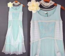 Turquoise Gatsby Dress Nataya Victorian Formal Bridal Evening Vintage Inspired S