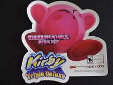 KIRBY TRIPLE DELUXE STICKER NINTENDO 3DS & 2DS PROMO DISPLAY  ZELDA MARIO