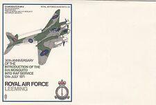Error SC39 RAF Leeming Missing Stamp, Postmark Flight Cachet Backstamp