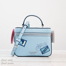 NWT Kate Spade Bon Voyage Off The Grid Trunk Leather Crossbody in Fresh Water