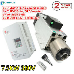 7.5KW 380V Air Cooled Spindle Motor ATC automatic tool change iso30 w/ 5.5KW VFD