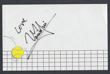 Vania King Autographed 3x5 Note Card Great for Framing Tennis Champion
