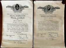 More details for pitman's shorthand institute, bath, speed certificate & theory certificate 1933