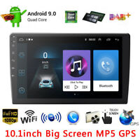 """10.1"""" 2 Din Car Radio WiFi Android 9.1 Stereo GPS Bluetooth MP5 Player Quad Core"""