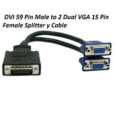 DVI-59 to Dual 15pin VGA Splitter Cable Y Splitter Adapter Connector