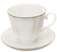 6.8 fl oz 22K Gold Imperial Porcelain Bone China Teacup Coffee Cup & Saucer LFZ