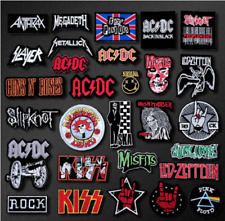 Patch Badges Embroidered Applique Sewing Iron On Badge Clothes BAND ROCK Music