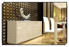 1.7m Premium High Gloss White Buffet Table,Storage Cabinet, Dresser/Cupboard