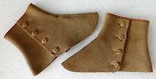 Vintage wool spats Brown ABBOTTS PHIT-EESI GAITERS Edwardian riding clothes